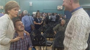 Nicola Sturgeon helps man deliver his marriage proposal