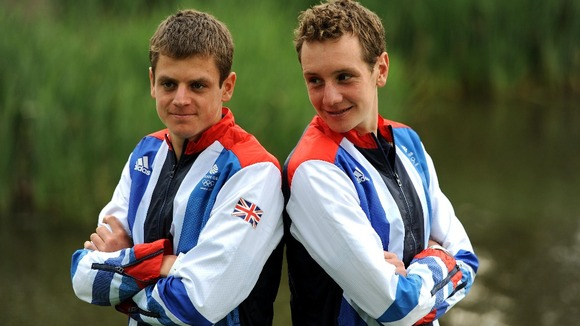 Team GB&#x27;s medal-winning triathletes.