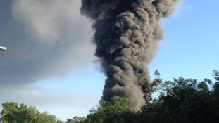 Fire services are trying to tackle a huge warehouse fire in Coventry.