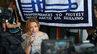 Charlotte Church sings 'This Bitter Earth' in oil drilling protest