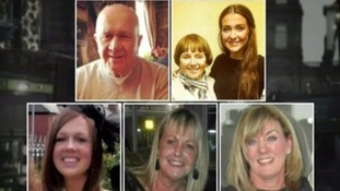 (From top-left) Jack Sweeney, Lorraine Sweeney with grand-daughter Erin McQuade, Stephenie Tait, Gillian Ewing and Jacqueline Morton