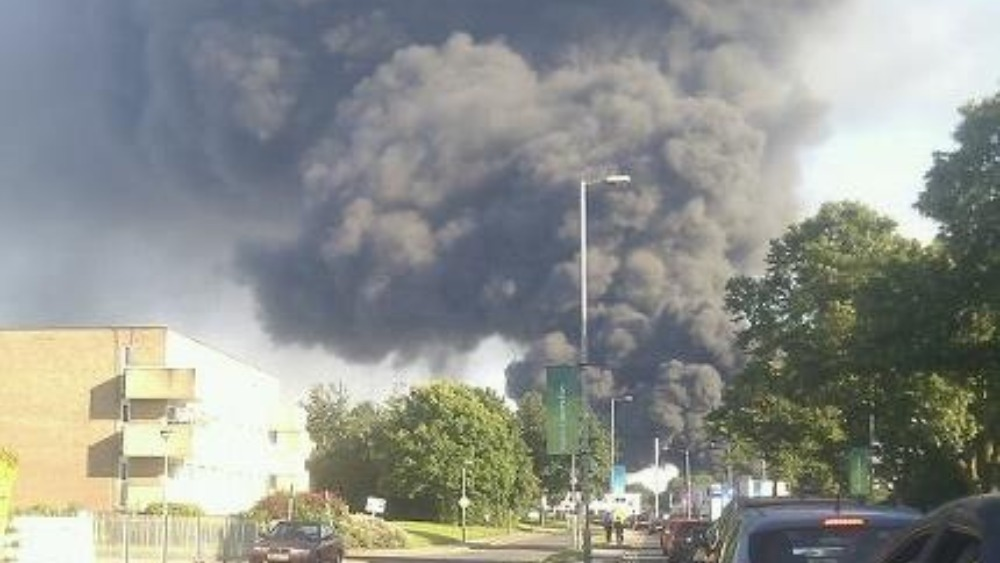 photos of warehouse fire central itv news. Black Bedroom Furniture Sets. Home Design Ideas