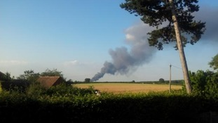 Fire as seen from Cubbington, Warwickshire