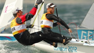 British sailing pair Luke Patience and Stuart Bithell.