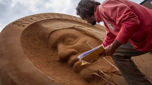 The sculptures required 80 tonnes of sand