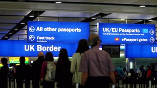 Net migration to Britain was an estimated 330,000 in the year to March