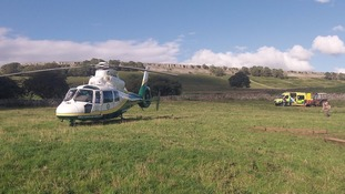 The Yorkshire Air Ambulance in Wensleydale