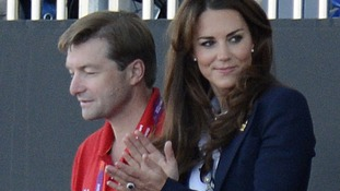 The Duchess of Cambridge at the Women's Semi-final between Great Britain and Argentina