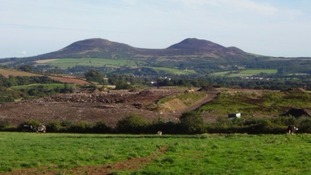 Easter Langlee landfill site near Galashiels