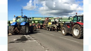 Farmers blockading Morrisons