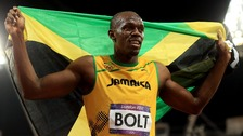 The world's two fastest men, Usain Bolt (left) and Yohan Blake (right)