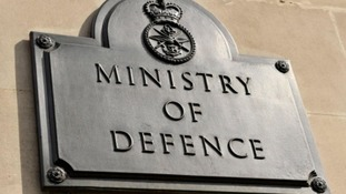 the sign for the Ministry of Defence's headquarters in Whitehall, London