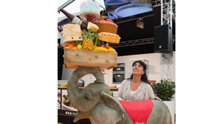 Jumbo 7ft elephant cake unveiled in Bolton