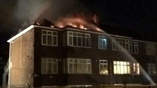 50 people evacuated after fire ravages block of flats