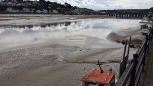 Bideford mud flats alongside River Torridge
