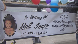 banner to remember Matt Jones