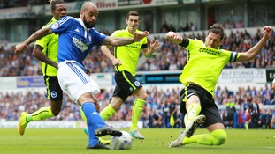 Brighton beat Ipswich and move top of the Championship table