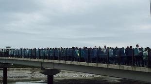 Shoreham crash candlelit vigil