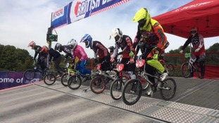 Riders prepare to hit the track
