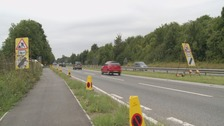 Reopened A27 near Shoreham