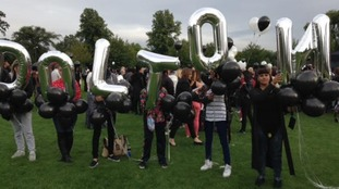Balloons are being released in Gloucester in memory of Dolton Powell