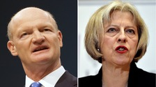 David Willetts and Theressa May