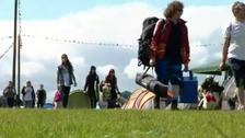 Leeds Festival clear-up underway