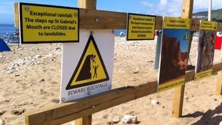Coastguards warn of the dangers of landslides