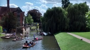 The River Cam behind Trinity College in Cambridge on 28 August 2015.