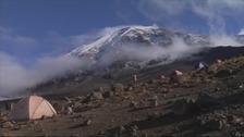 Kilimanjaro is a 19,000 ft climb.