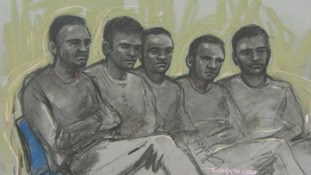 The five men who appeared in court