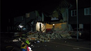 Explosion at a house in Cornwall