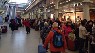Queues at St Pancras.