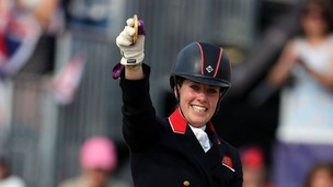 Great Britain&#x27;s Charlotte Dujardin riding Valegro won gold in the equestrian dressage individual event.