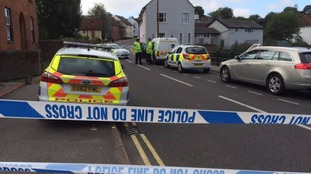 Police cordon around area where man was shot