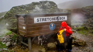 Keswick Mountain Rescue's stretcher box.