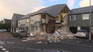Man survives huge explosion after neighbours pull him to safety