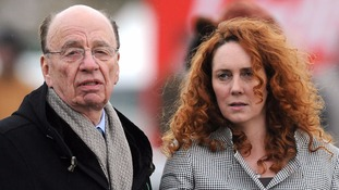 File photo dated 18/03/10 of Rupert Murdoch and Rebekah Brooks