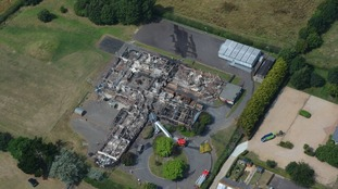 The Island Learning Centre destroyed by fire