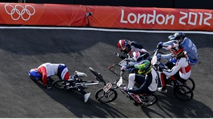 The accident happened in the men's BMX quarter-final run