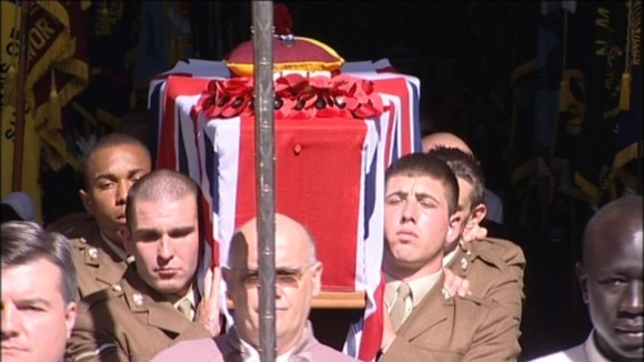 The funeral of Lance Corporal James Fullarton