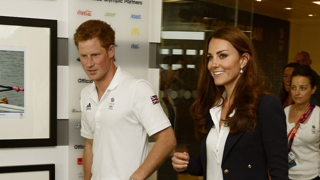 Prince Harry and the Duchess of Cambridge arrive at Team GB House today.