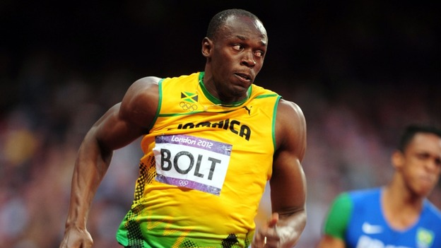Bolt is the 1st man to win back-to-back sprint doubles