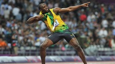 Usain Bolt successfully defended his 200m Olympic title.