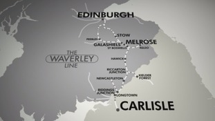 The route of the new Borders Railway.
