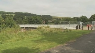 Work to improve Selkirk's flood defences in 2014.