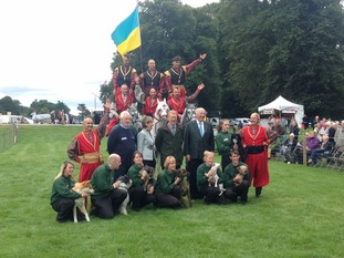The Duke meets the Cossacks and Essex dog display team.