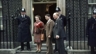 Madge Elliot and David Steel at Downing Street