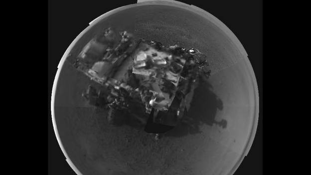A self portrait of the Mars Curiosity rover