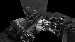Self portrait of the Curiosity rover